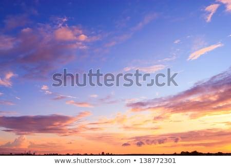 Tengerparti napfelkelte piros tömés égbolt fény Stock fotó © lovleah