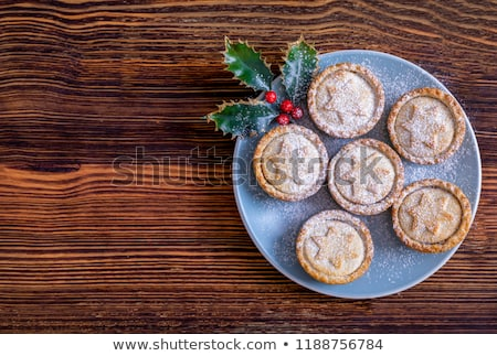 Mince pies - traditional Christmas food Stock photo © Alex9500