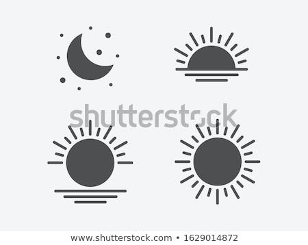 ночь набор силуэта черный Сток-фото © blackmoon979