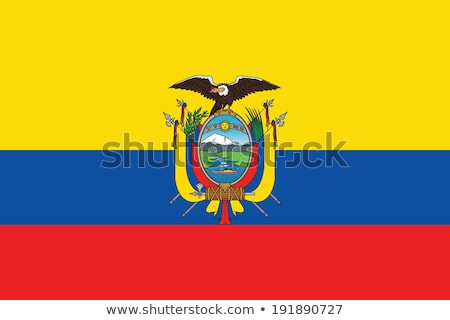 Ecuador vlag witte landschap achtergrond Blauw Stockfoto © butenkow