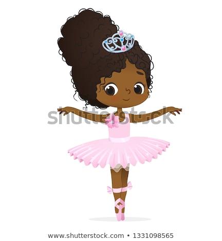 Stockfoto: Cute Brunette In Black