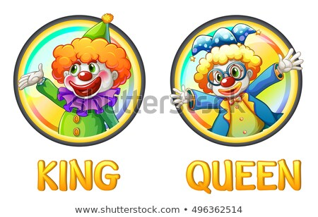 Clowns being king and queen  Stock photo © colematt