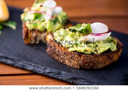 здорового завтрак авокадо Бутерброды Сток-фото © dash
