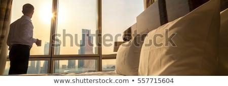 Lifestyle hotel banner zakenlieden duim Stockfoto © RAStudio