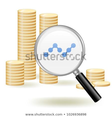 Nano érmék logo piac embléma üzlet Stock fotó © tashatuvango