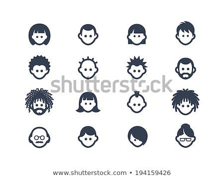 Punk hombre avatar personas icono Cartoon Foto stock © Krisdog