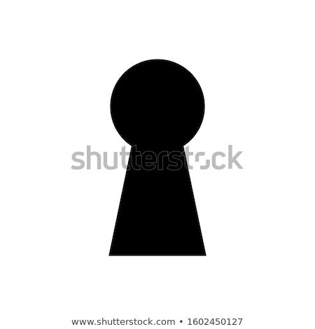 Ojo de la cerradura icono vector diseno signo Foto stock © blaskorizov