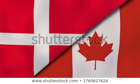 Two waving flags of Canada and denmark Stock photo © MikhailMishchenko