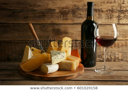 Mimolette cheese on the wooden board Stock photo © Alex9500