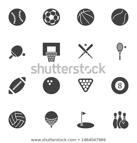 Tenis raketi top clipart logo vektör ikon Stok fotoğraf © blaskorizov
