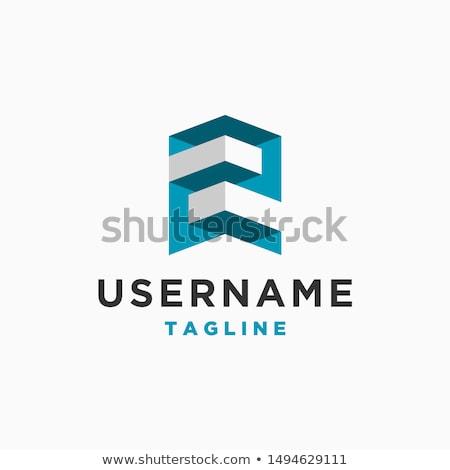 z 2 letter or number icon blue logo vector Stock photo © blaskorizov