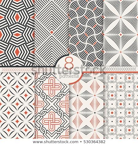 点在 · クロス · シームレス · ベクトル · パターン · 幾何学的な - ストックフォト © yopixart