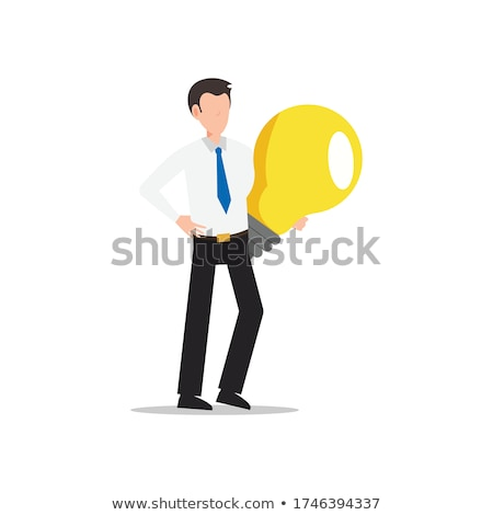 Business Idea Hand of Man Holding Bulb Vector Stock photo © robuart