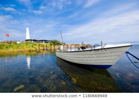 Tekneler sahil Danimarka çok İskandinavya Stok fotoğraf © jeancliclac