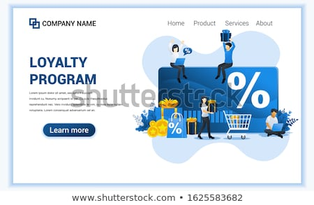 Discount and loyalty cardconcept landing page. Stock photo © RAStudio