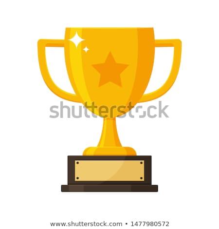 trofeo · Cup · icona · lungo · ombra · grigio - foto d'archivio © biv