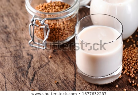 Laktoz ücretsiz süt gri arka plan içmek Stok fotoğraf © furmanphoto