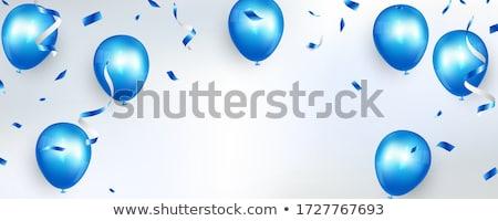 Blauw witte schaar illustratie modieus kantoor Stockfoto © Blue_daemon