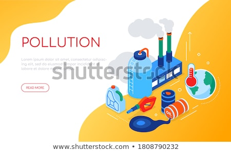 air pollution   modern colorful isometric vector illustration stock photo © decorwithme