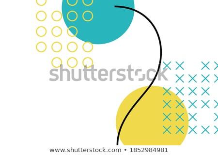 Stock photo: modern vibrant memphis style circular banner