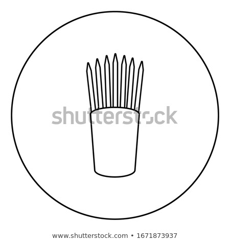 pencil stand icon in circle vector illustration stock photo © robuart