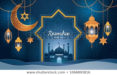 elegant islamic lamps and star ramadan background Stock photo © SArts