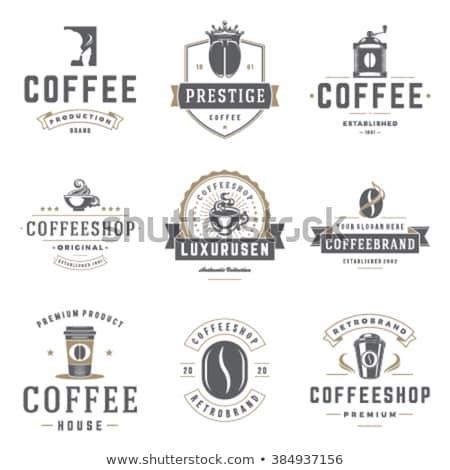 Kahve stilize kahve fincanı ikon gıda Stok fotoğraf © Arkadivna