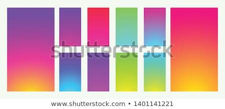 ingesteld · kleurrijk · modieus · helling · sjabloon · collectie - stockfoto © swillskill