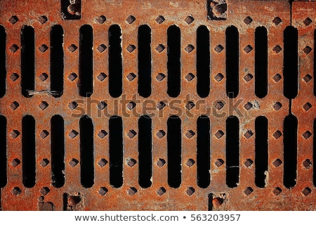 Rusty Metal Street Grate Stock photo © feverpitch