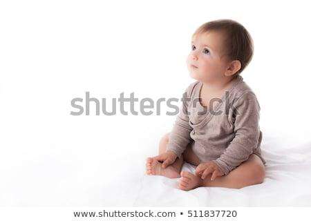 студию · портрет · ребенка · мальчика · сидят · счастливым - Сток-фото © monkey_business