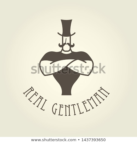 Strongman with arms crossed on chest - gentleman or circus actor Stock photo © Winner