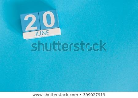 cubes calendar 20th june stock photo © oakozhan