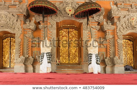 palacio · bali · dentro · Indonesia · edificio · árboles - foto stock © galitskaya