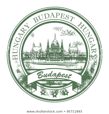 budapest stamp   hungarian parliament building landmarks of bud stock photo © winner