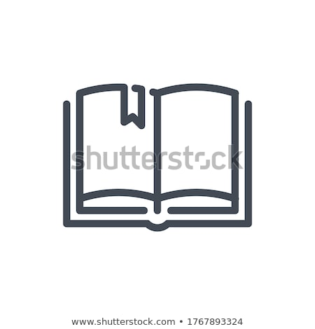 Open Book With Bookmark Icon Stock photo © angelp