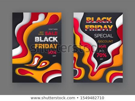 black · friday · preço · venda · para · cima · 50 · super - foto stock © robuart