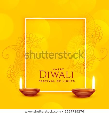 creative lord ganesha design on yellow background Stock photo © SArts