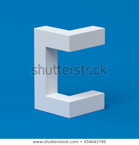 Blue extruded font Letter C 3D Stock photo © djmilic