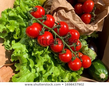 красный зеленый помидоров винограда корзины Сток-фото © sarahdoow