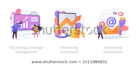 Marketing automatisering vector metaforen web design Stockfoto © RAStudio