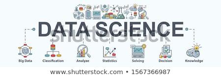Stockfoto: Gegevens · wetenschap · banner · schets · ontwerp · business