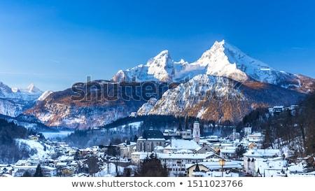 Grond stad alpine landschap regio Stockfoto © xbrchx