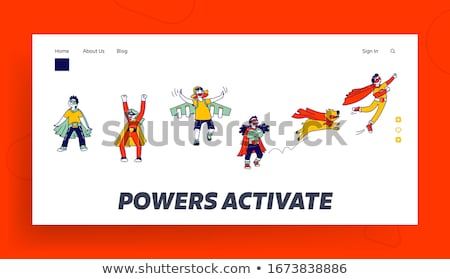 Etapa rendimiento lineal aterrizaje página vector Foto stock © Decorwithme