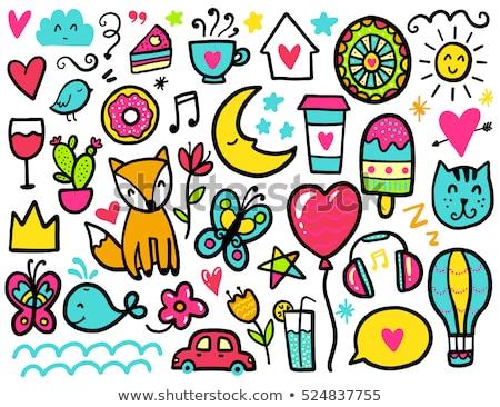 Cartoon doodles Coffee House illustration. Stock photo © balabolka