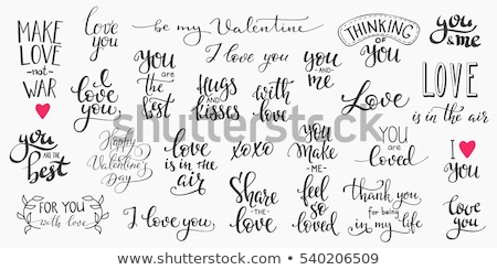 Love and gifts concept - I love you Stock photo © barsrsind