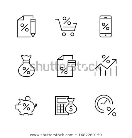 Percent Icon, Discount or Deposit Symbol Vector Stock photo © robuart