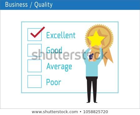 人 優れた チェックボックス 顧客サービス 満足 調査 ストックフォト © AndreyPopov