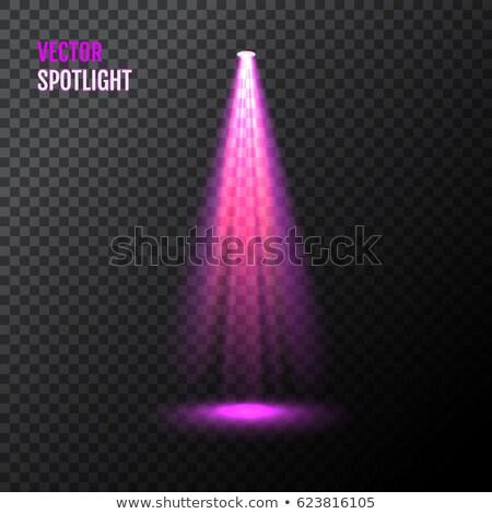 Etapa terreno iluminación magia luz rosa Foto stock © olehsvetiukha