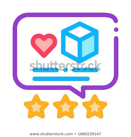 Estimar icono vector ilustración Foto stock © pikepicture