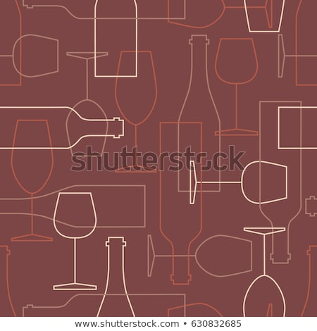 Sommelier Wine Tasting Seamless Pattern Vector Stock photo © pikepicture